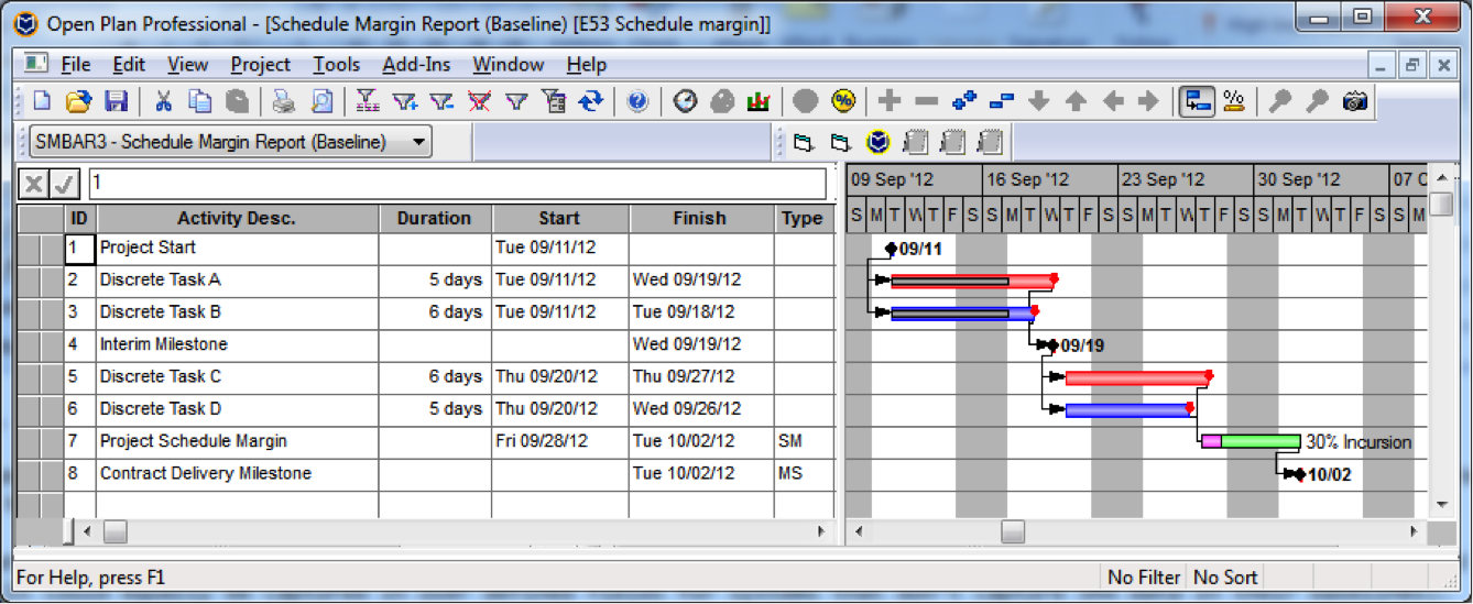 Schedule Margin3