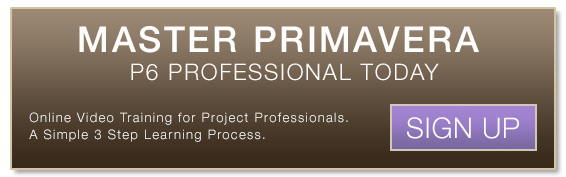 Primavera P6 Training Button