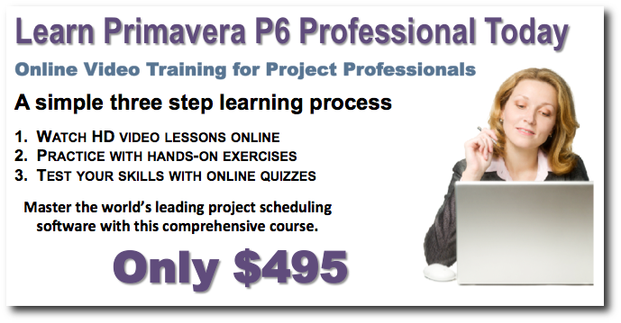 Primavera P6 Video Training Banner