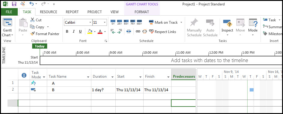 Figure 1 Schedule Task Entry