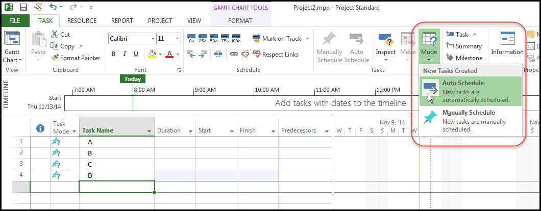 Figure 4 Schedule Task Entry