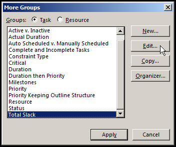 Grouping Tasks in Microsoft Project Fig 5