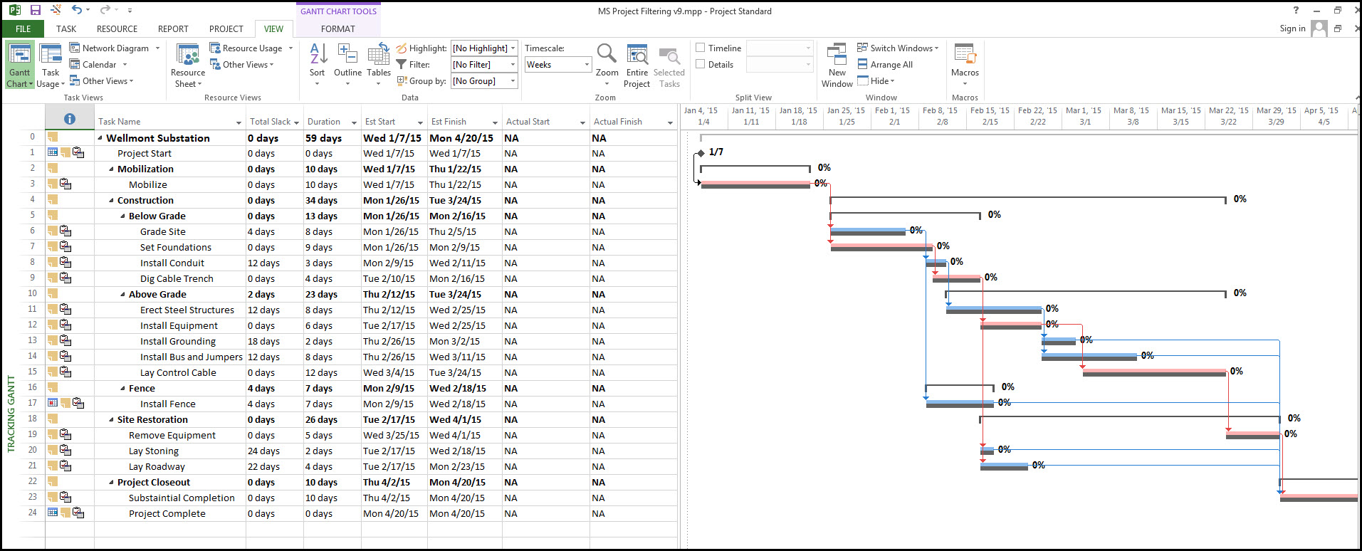 Baseline in Microsoft Project 2013Fig 10