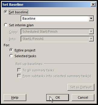 Baseline in Microsoft Project 2013Fig 5