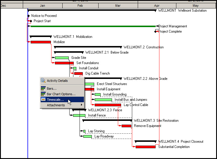 Inserting Gantt Chart Gridlines P6Fig 2
