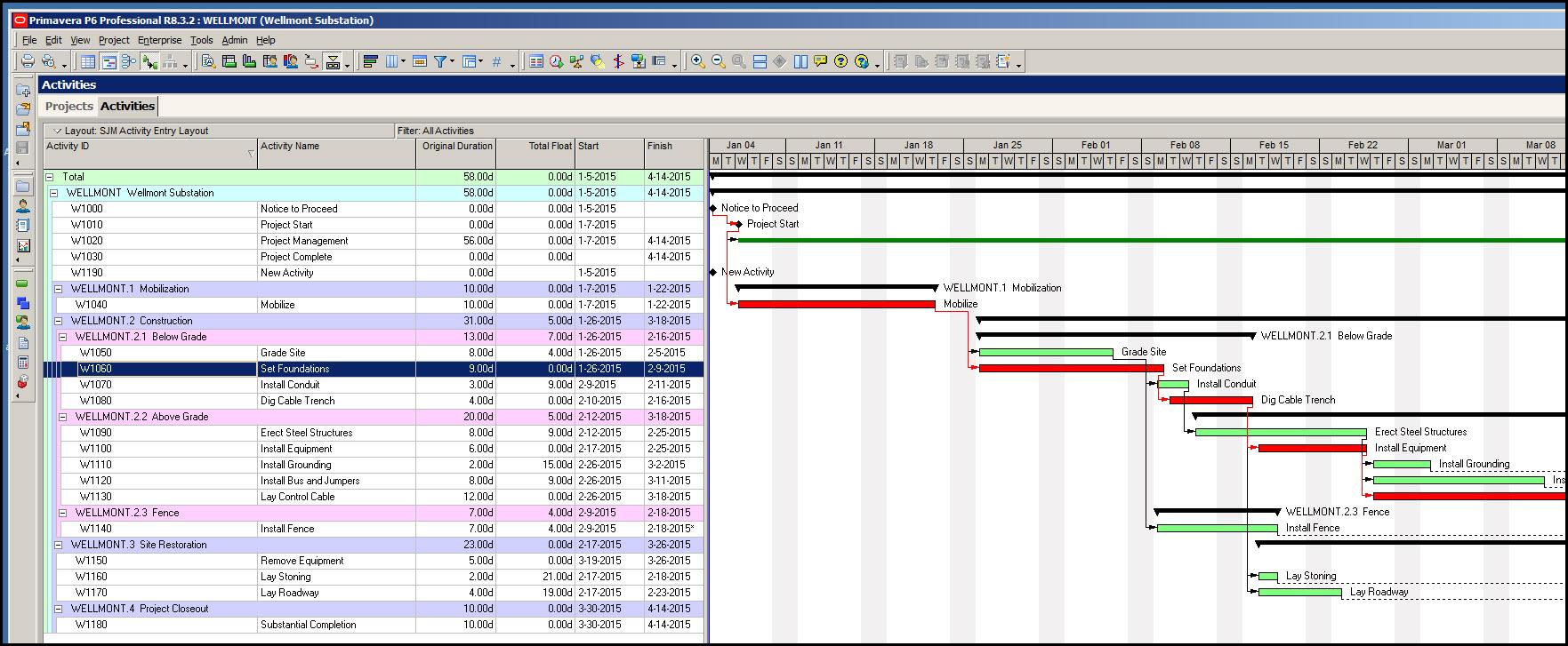 Inserting Gantt Chart Gridlines P6Fig 4