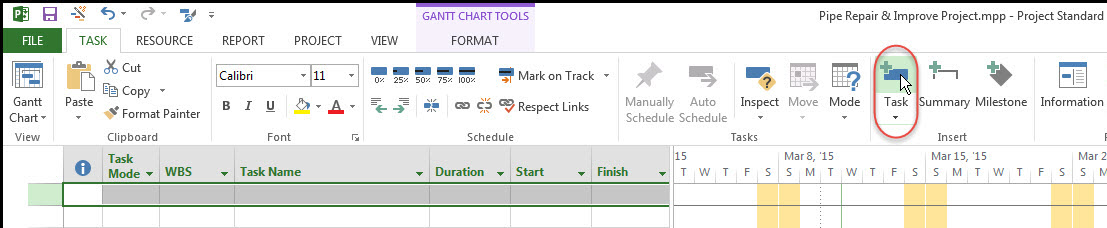 Microsoft Project Top-Down Fig 2