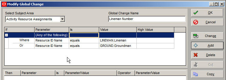 Primavera P6 Global Change Tool Figure 3