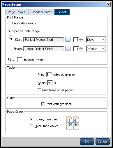 Printing Gantt Charts in P6 EPPM Fig 6