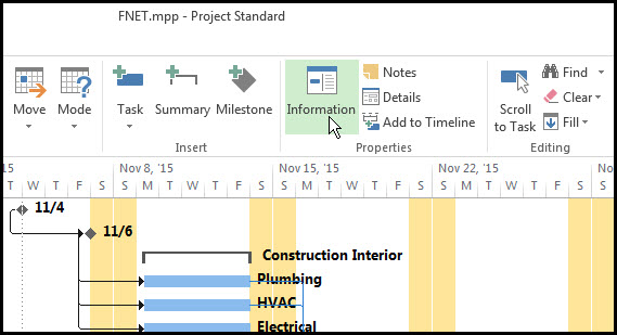 Microsoft Project Finish No Earlier Than Constraints Fig 2