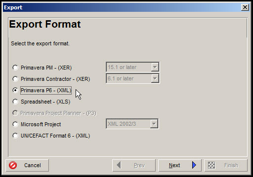 Exporting and Importing Layouts in P6 Fig 4