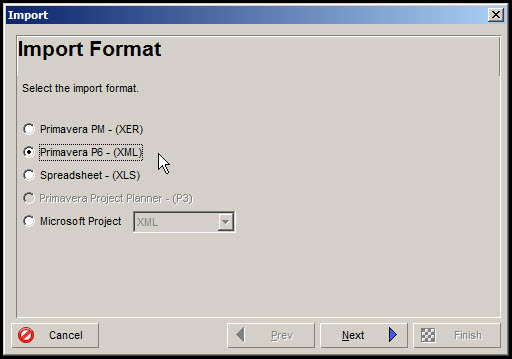 Exporting and Importing Layouts in P6 Fig 7