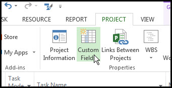 Microsoft Project Custom Fields to P6Fig 2
