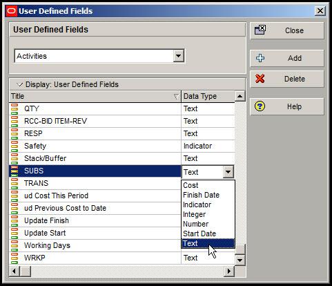 Microsoft Project Custom Fields to P6Fig 5
