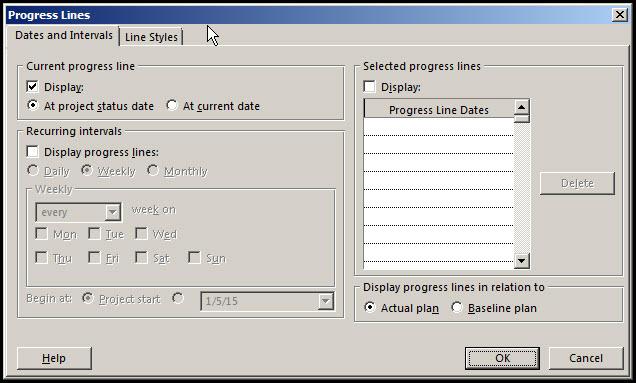 Monitor Progress in Microsoft Project Fig 2