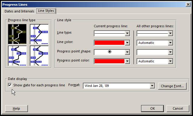 Monitor Progress in Microsoft Project Fig 3