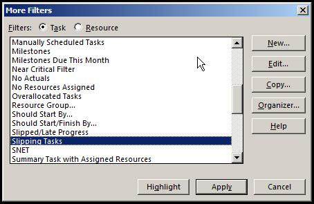 Monitor Progress in Microsoft Project Fig 5