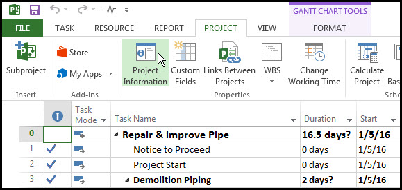 Microsoft Project Quick Access Toolbar Fig 2