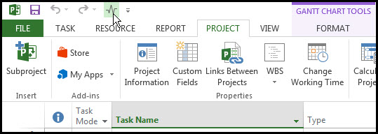 Microsoft Project Quick Access Toolbar Fig 9