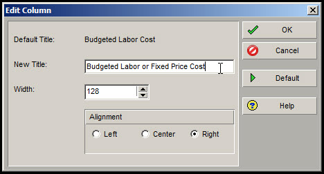 Assigning Fixed Price Costs to Activities in P6 Fig 7