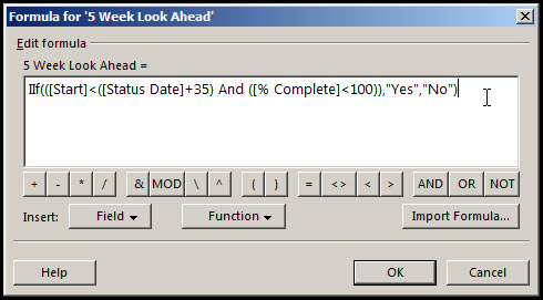 Microsoft Project Look Ahead Filter Fig 10