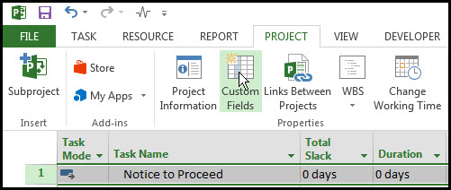 Microsoft Project Look Ahead Filter Fig 2