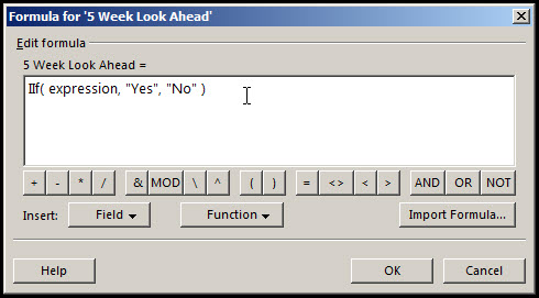Microsoft Project Look Ahead Filter Fig 6