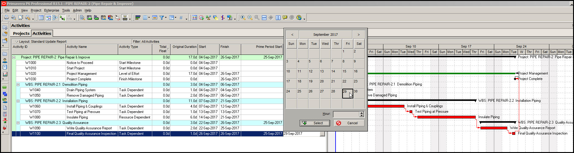 Prime Period Gantt Chart Bar Fig 6