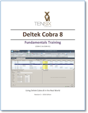 Deltek Cobra 8 Fundamentals Cover Page