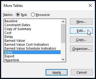 Microsoft Project Row Height