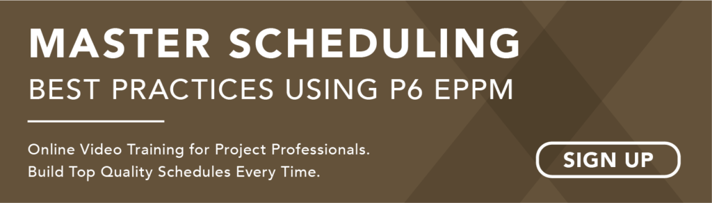 Primavera P6 EPPM Scheduling Best Practice Guidelines