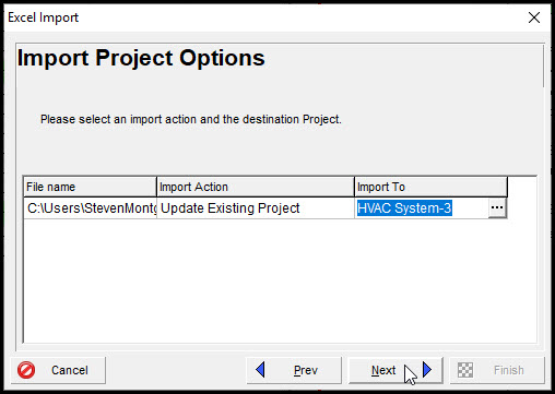 Importing XLSX Expense Costs into P6