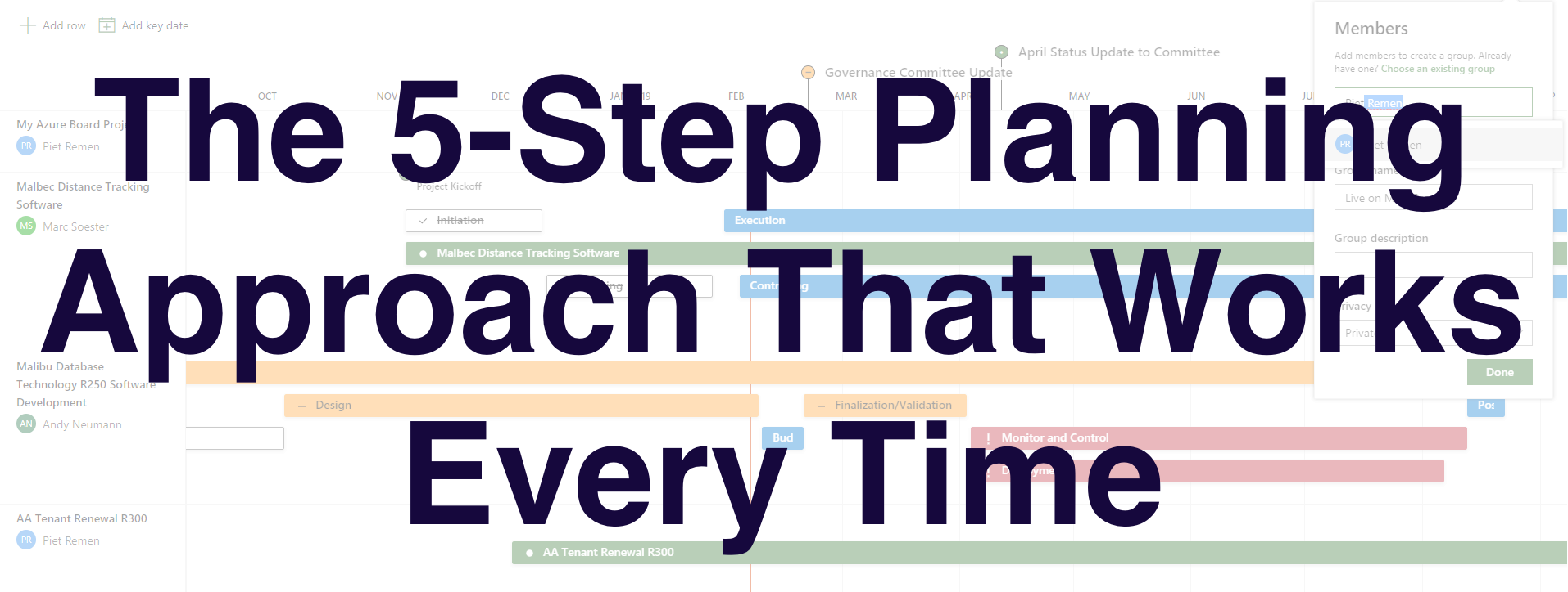 The 5-Step Planning Approach That Works Every Time