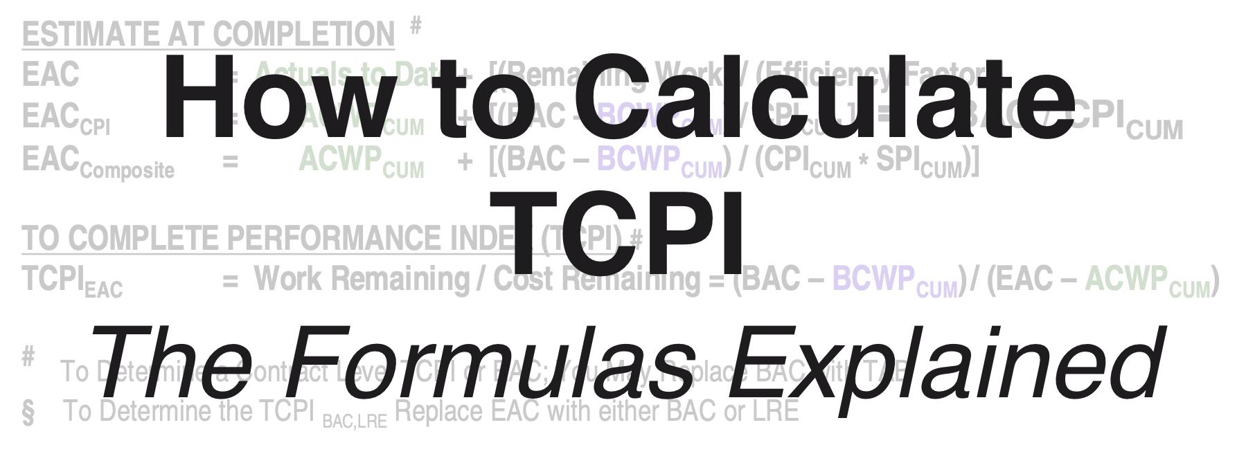 Calculate TCPI