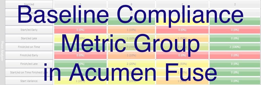 Baseline Compliance metric group
