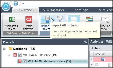 Import all Projects into Acumen Fuse