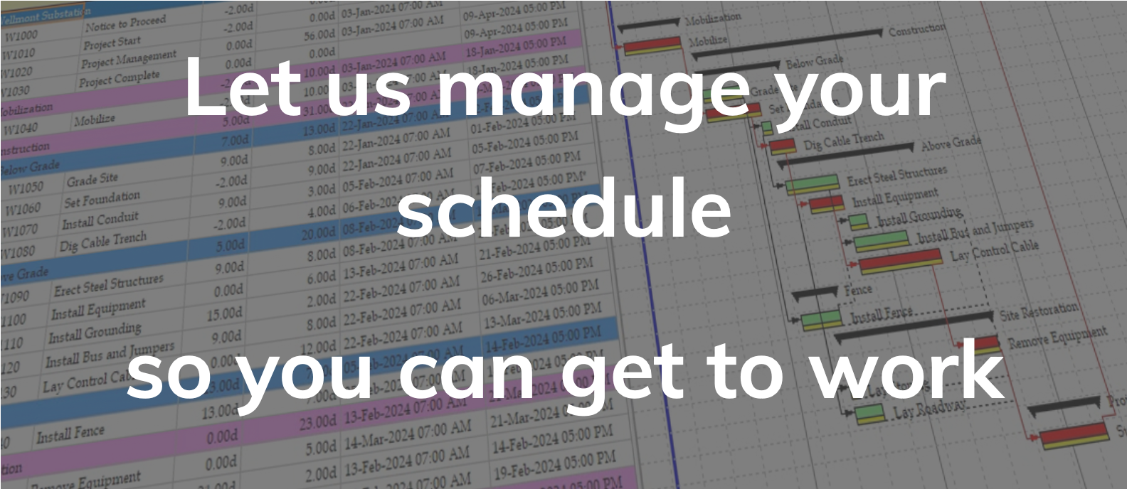 Project Scheduling Services