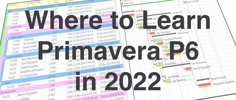 Where to Learn Primavera P6