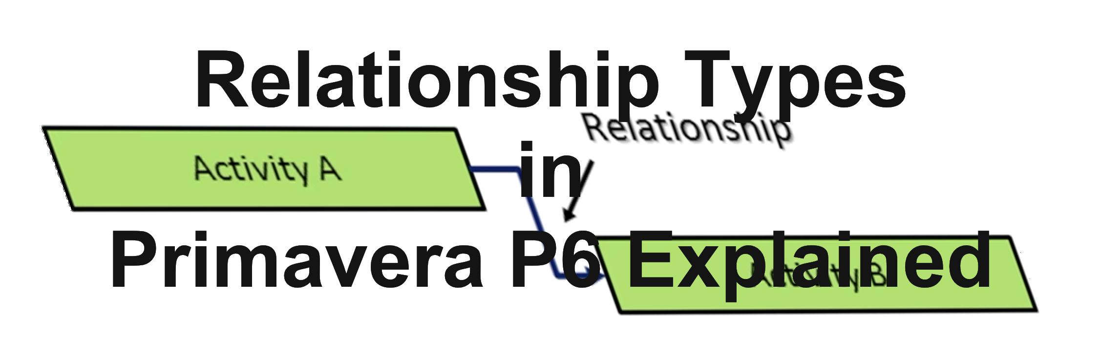 Relationship Types in Primavera P6 Explained